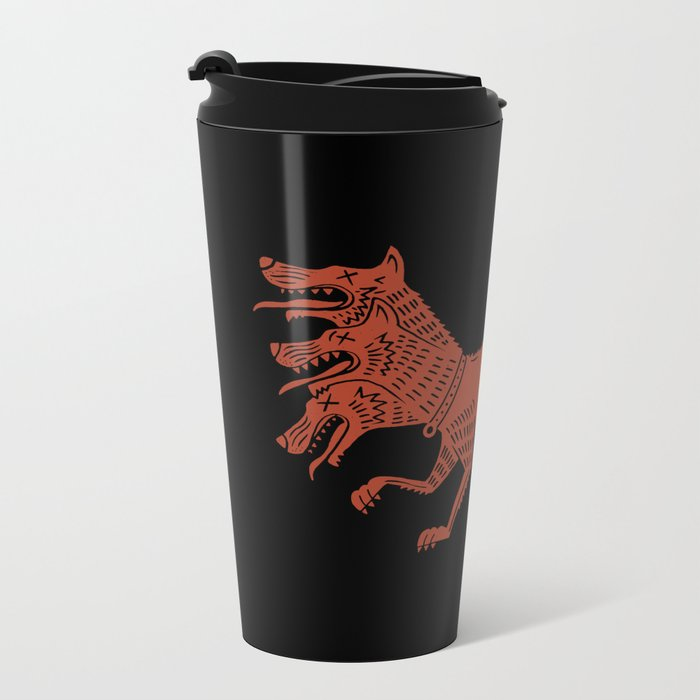 Cerberus Metal Travel Mug