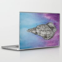 shell Laptop & iPad Skins featuring shell by Diane Nicholson