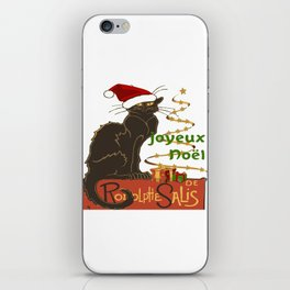Joyeux Noel Le Chat Noir Christmas Parody iPhone Skin