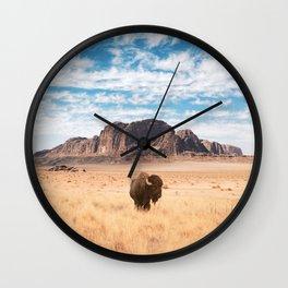 The Lonely Bison, Salt Lake City, Utah Wall Clock