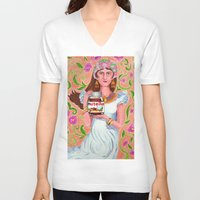 nutella V-neck T-shirts featuring An Ode To Nutella by Anna Gogoleva