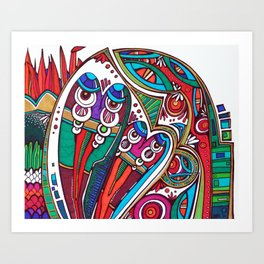 Siva and Shakti Art Print