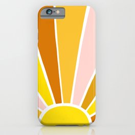 Sun Ray Burst iPhone Case