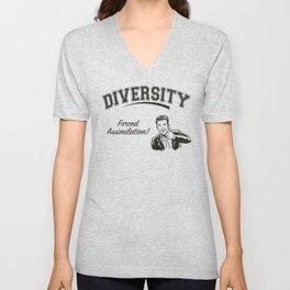 Diversity - Forced Assimilation Unisex V-Neck