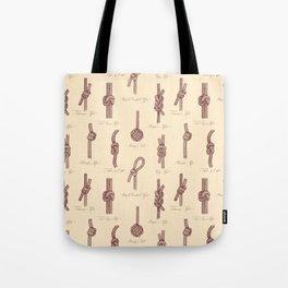 Nautical Knots (Beige and Sepia) Tote Bag