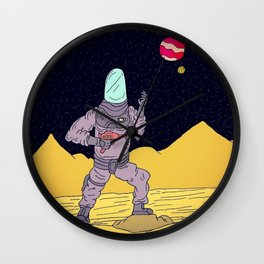 In space, no one can hear you scream Wall Clock