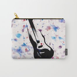 Rock n Roll Guitar No.7 by Kathy Morton Stanion Carry-All Pouch