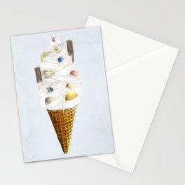 galaxy cone Stationery Cards