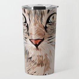 Cat Cartoon Art Design Gift For Adults And Children Travel Mug