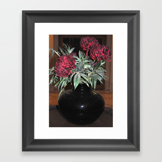 The black vase Framed Art Print
