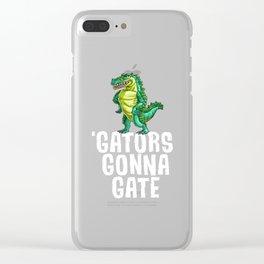 Gators Gonna Gater Alligator Reptile Animal Clear iPhone Case