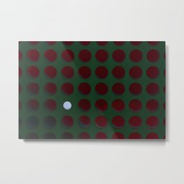 One dot doesn't conform to the norm! Be different! Stand out! Rebel! Metal Print
