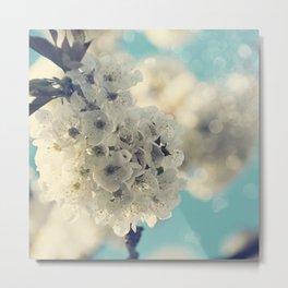 White Cherry Blossom Bokeh #2 Metal Print