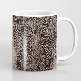 Mandala - rose gold and black marble 3 Coffee Mug