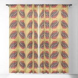 Fish tales 2c Sheer Curtain