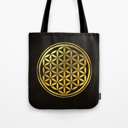 Golden Flower Of Life Tote Bag