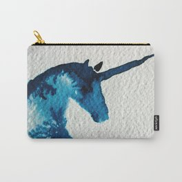 Blue Unicorn Carry-All Pouch