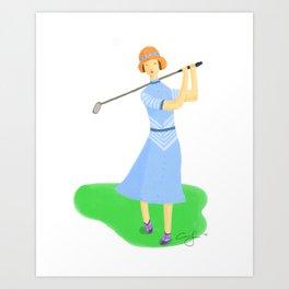 Sporty Lady #3 Art Print