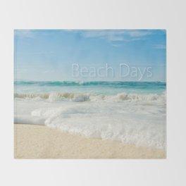 beach days Throw Blanket