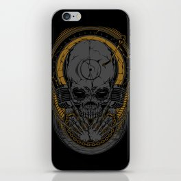Metal Disc Jockey iPhone Skin