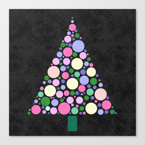 Christmas Tree Marble Canvas Print