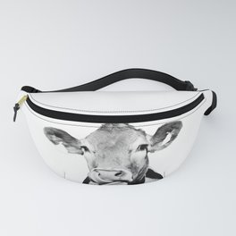 Cow photo - black and white Fanny Pack
