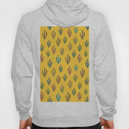 Mosaic Cacti on Yellow Hoody