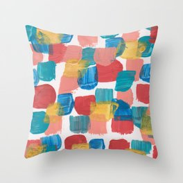 New Mexico Abstract 6 With Gold Throw Pillow