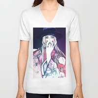 insects V-neck T-shirts featuring Red insects by The Prophet A