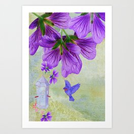 Purple Cranesbill Art Print