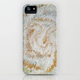 Abstract gold roses iPhone Case