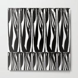 Black and White ZEBRA abstract Metal Print