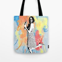 water color Tote Bags featuring Water Color by Bill Pyle