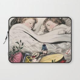 Christmas Morning-Before Daylight (1871) by The Kellogg  Bulkeley Co Laptop Sleeve