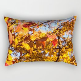Fall Leaves Photography Print Rectangular Pillow