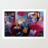 Interior with Picasso Art Print