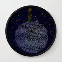 le petit prince Wall Clocks featuring LE PETIT PRINCE by Robotic Ewe