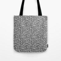 art nouveau Tote Bags featuring Art Nouveau by pskrd