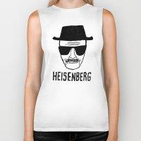 heisenberg Biker Tanks featuring HeisenBerg by IIIIHiveIIII