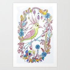 exotic bird Art Print