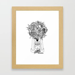 Grow in unfamiliar places Framed Art Print