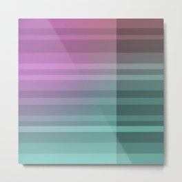 Coloured Intersection Metal Print
