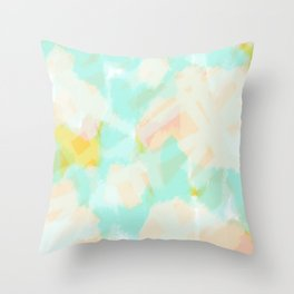 Selah - Soft blue abstract digital painting Throw Pillow