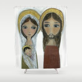 Sacred Family by Flor Larios Shower Curtain