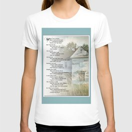 Old Homes (Poem) T-shirt
