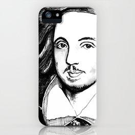 Christopher Marlowe Portrait iPhone Case