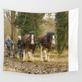 Working Horses 3 Wall Tapestry