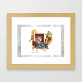 the whole of human history is some conjecture pissed on a neighbors lawn. Framed Art Print