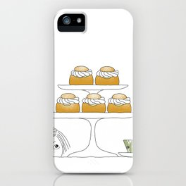 Fika with Semlor iPhone Case