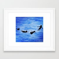 neverland Framed Art Prints featuring Neverland by Sierra Christy Art